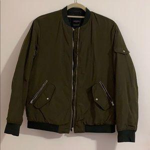 Zara Trafaluc Olive Green Bomber Jacket